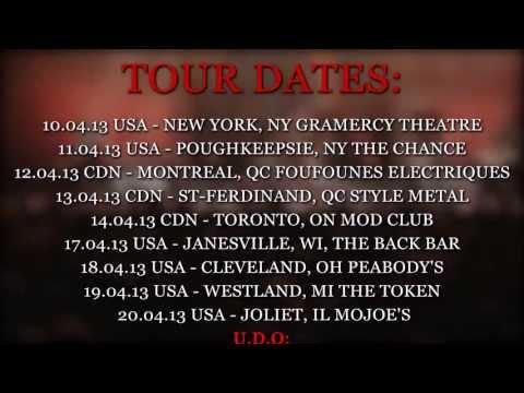 U.D.O. North American Tour 2013 Trailer