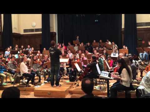Youth Orchestra Goethe Schule Essen Rehearsing For MANOWAR Show @ Essen Grugahalle January 2015