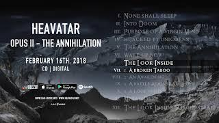 "Heavatar ""Opus II - The Annihilation"" Official Pre-Listening - Album out February 16th, 2018"