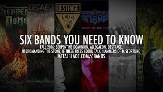 Six Bands in 60 Seconds - Fall 2016 #6BandsYouNeedtoKnow