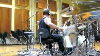"""Charred Walls of the Damned """"Zerospan"""" studio drums"""