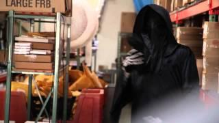 Grim Reaper visits record label office