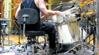 """Charred Walls of the Damned """"Guiding Me"""" studio drums"""